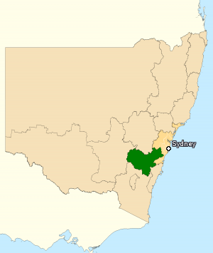 Division of Hume - Division of Hume in New South Wales, as of the 2016 federal election.