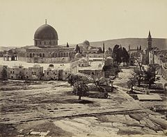 Dome of the Rock, from Governor's House, Francis Bedford 1862.jpg