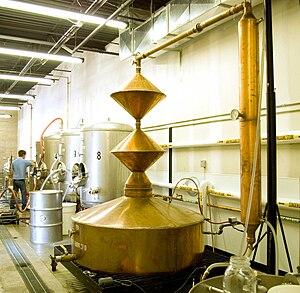 Microdistillery - A Double Diamond pot still used by Downslope Distilling of Centennial, Colorado.