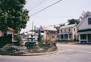 Kent Island (Maryland) - Love Point Road (viewed from Old Cockey Lane) in Historic Stevensville