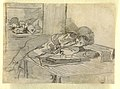 Drawing, Chinese Man Smoking an Opium Pipe, a Baxter Street Club House, New York City, ca. 1874 (CH 18175157).jpg