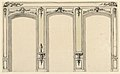 Drawing, Elevation of Wall with Three Niches, 1780 (CH 18609781-2).jpg