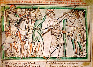 Saint Alban - Martyrdom of Amphibalus from the Trinity College Life of St Alban.