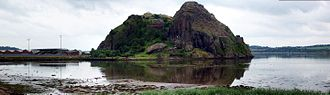 "Eochaid, son of Rhun - The fortress of Al Clud occupied Al Clud (""the rock of the Clyde""). The mediaeval citadel that sat atop this geological formation formed the capital of the Kingdom of Al Clud until the late ninth century."