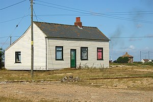 A Collection of Great Dance Songs - House in Dungeness, where the photo for the cover was taken.