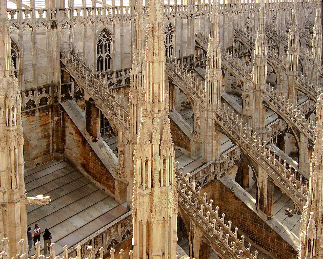 File Duomo Di Milano Dach Seitlich Jpg Wikimedia Commons