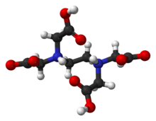 Ball and stick model of ethylenediaminetetraacetic acid