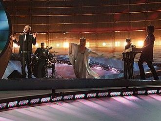 San Marino in the Eurovision Song Contest - Image: ESC 2008 San Marino Miodio, 1st semifinal