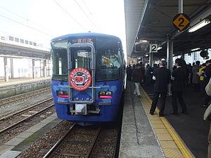 ET122 - Image: ET122 7 Itoigawa Station 2015 03 14