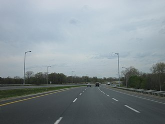 E. C. Row Expressway - E. C. Row facing west at Huron Church Road prior to construction of the Herb Gray Parkway