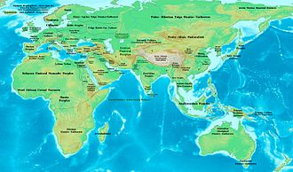13th century BC - Eastern Hemisphere in 1300 BC.