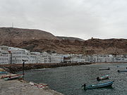 East part of Mukala Old City and towers on the mountains.JPG