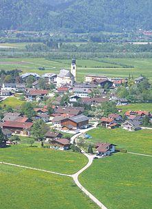 Ebbs as seen from St. Nikolaus towards the Inn