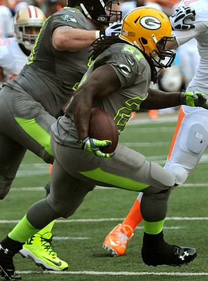 Eddie Lacy - Lacy playing in the 2014 Pro Bowl after his rookie season.