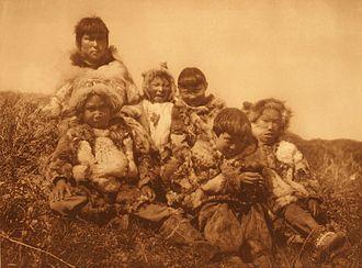 Nunivak Island - Nunivak children, photograph by Edward S. Curtis, 1930