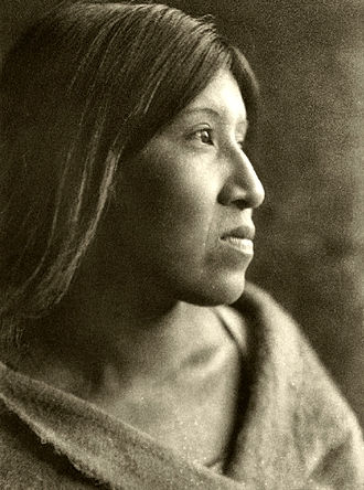 Cahuilla - Desert Cahuilla woman by Edward S. Curtis, 1926