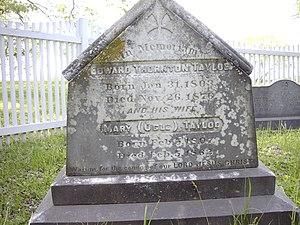 Edward Thornton Tayloe - Image: Edward Thornton Tayloe & Mary Ogle Tayloe Grave