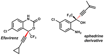 Merck's Effavirenz and ephedrine derivative synthesized via zinc acetylide