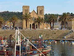 The old fishing harbor at El Kala facing the decomissioned Saint Cyprien Church