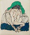 Egon Schiele - Crouching Woman with Green Headscarf - Google Art Project.jpg