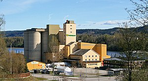 Grain silo, Eidsvoll, Norway.
