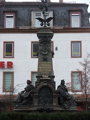 Bavarian Ludwig Railway - Railway monument in Nuremberg in memory of the first German railway, Nürnberg-Fürth.