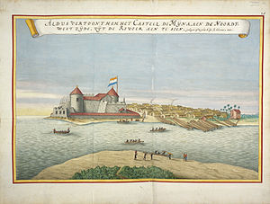 Dutch Gold Coast - Elmina Castle in the Blaeu-Van der Hem Atlas.