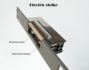 Electric strike - Electric strike with monitoring contact.