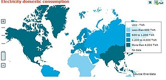 Electric energy consumption - Electricity Consumption in 2009 Source: Enerdata Statistical Energy Review