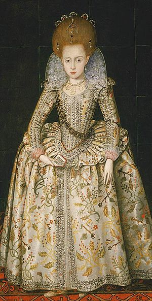 Elizabeth Stuart, Queen of Bohemia - Elizabeth, aged about 10 years old, by Robert Peake the Elder