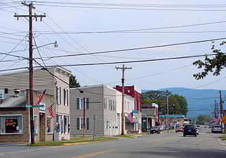 Elkton, Virginia - Elkton with the Blue Ridge Mountains in the background