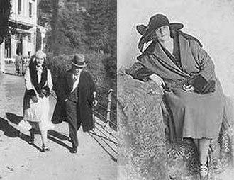 Ema Gordon Klabin Cultural Foundation - Ema walking with her father in Italy (left). Ema in Berlin, in 1925.