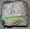 Emeralds in pegmatitic granite 1 (37822319175).jpg