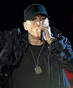 Photo of Eminem performing in 2014.