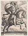 Emperor Vespasian on Horseback, from the series The First Twelve Roman Caesars, plate 11 MET DP857132.jpg