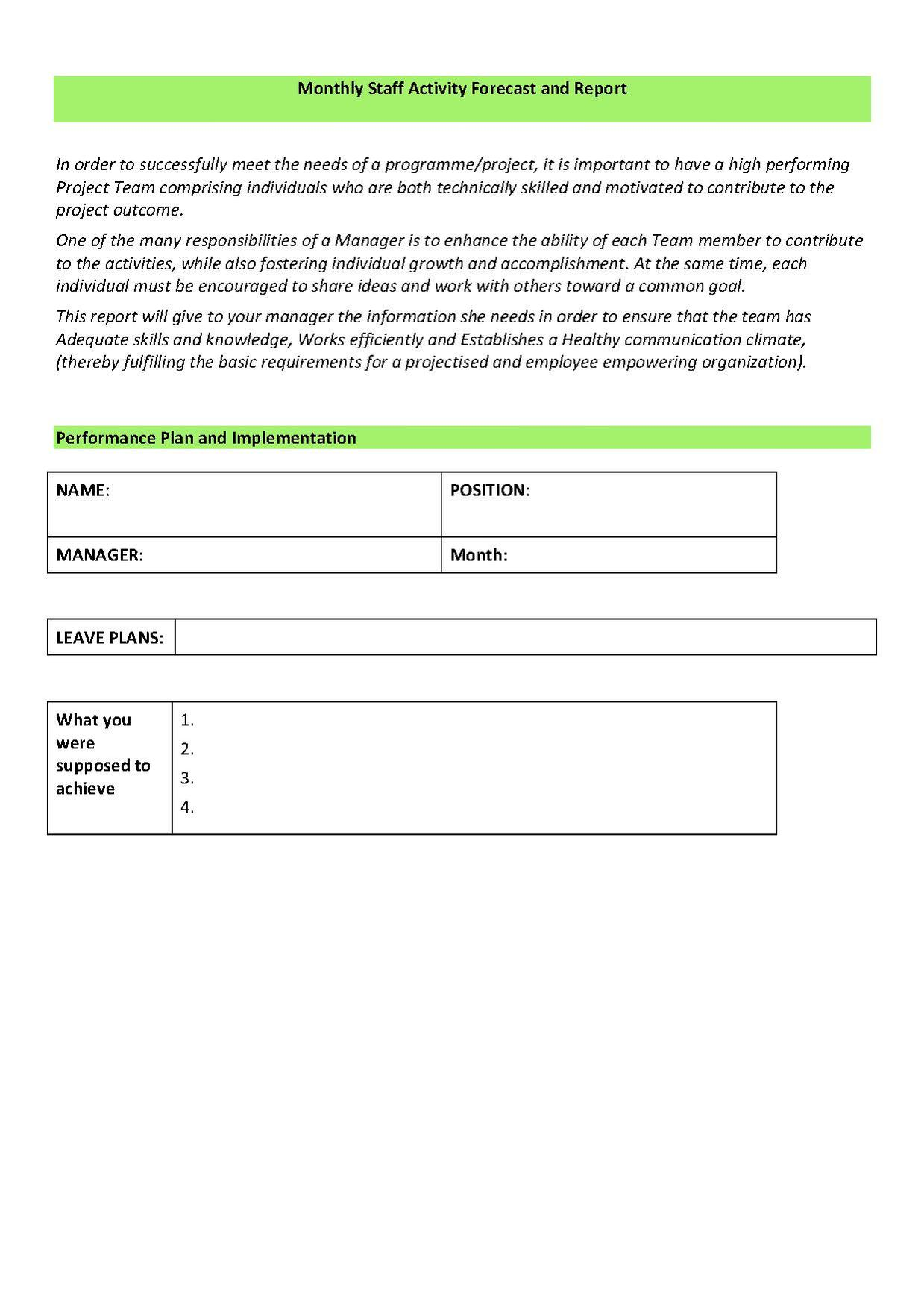 employee performance review template pdf - Akba.greenw.co