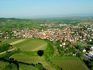 Endingen am Kaiserstuhl - Aerial view of Endingen