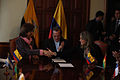 Entrega por parte de Colombia del Instrumento de Ratificación del Tratado Constitutivo de la UNASUR a Ecuador. (6512964801).jpg