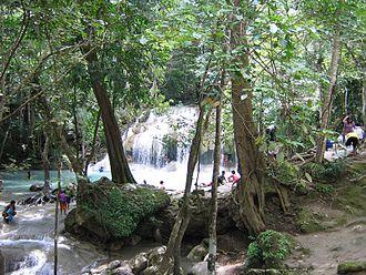 Si Sawat District - Erawan Waterfall
