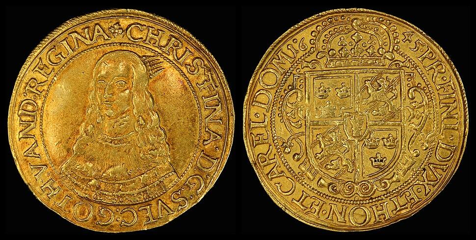 Erfurt (German States) 1645 10 Ducat (Portugaloser)