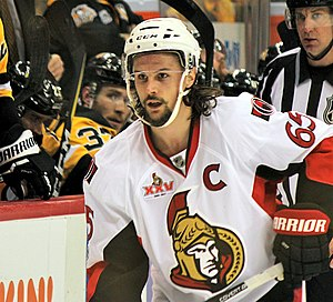 "Erik Karlsson - Karlsson has worn the ""C"" since 2014"