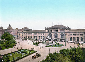 Hannover Hauptbahnhof - The Hauptbahnhof about 1900