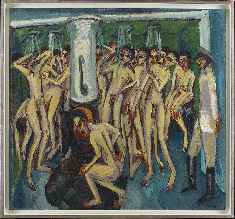 Ernst Ludwig Kirchner, Das Soldatenbad, 1915, (DEP950), private collection