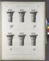 Esné (Isnâ) (Latopolis). Plan et élévations de six chapiteaux du portique (NYPL b14212718-1267906).tiff