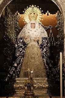Virgin of Hope of Macarena Religious sculpture of Macarena that depicts the Virgin Mary of Hope.