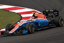 Esteban Ocon durante la Q1 del Gran Premio di Malesia 2016