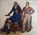 Estudo de figuras humanas para a tela Cortes Constituintes de 1821 (José Ferreira de Moura, Agostinho José Freire, Manuel Borges Carneiro) - Veloso Salgado, 1920.png