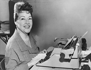 Ethel Merman - Ethel Merman at the typewriter in 1953, New York World-Telegram photo by Walter Albertin