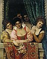 Eugene de Blaas - Ladies on a Balcony (1875).jpg
