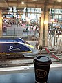 Eurostar departure lounge - time for a last cafe au lait - Flickr - TeaMeister.jpg